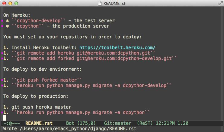 Emacs and Python
