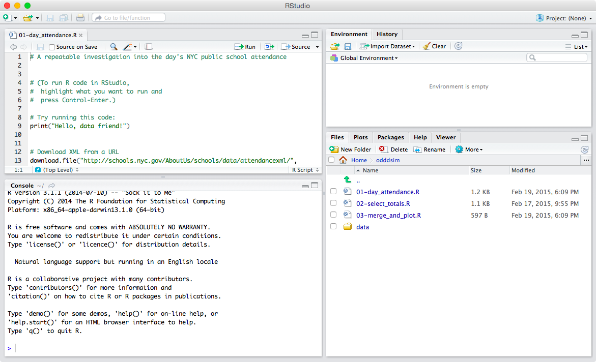 RStudio in a Web Browser