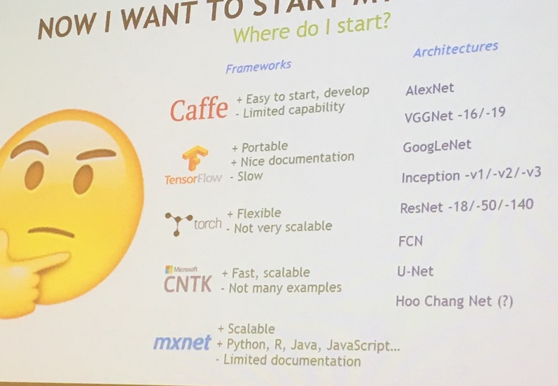Caffe and TensorFlow at Deep Learning Analytics